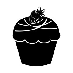 sweet and delicious cupcake isolated icon vector illustration design
