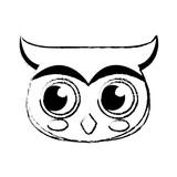 christmas owl character bird funny vector illustration