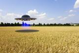 An unidentified flying object (ufo 3d rendering)
