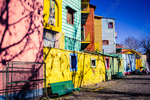 Aluminium Buenos Aires Caminito, The colorful street museum - La Boca - Buenos Aires - Argentina - South America.