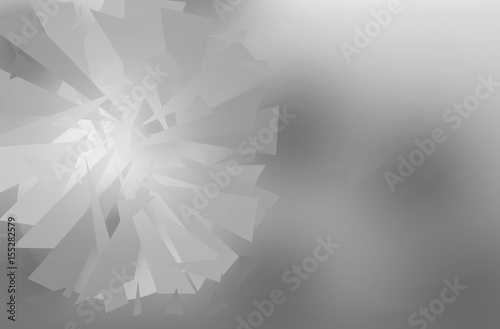 Design Abstract Circle polygon gray background