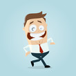 happy walking businessman - 155324787