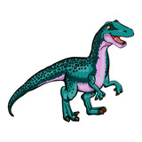 Isolated illustration of a cartoon dinosaur