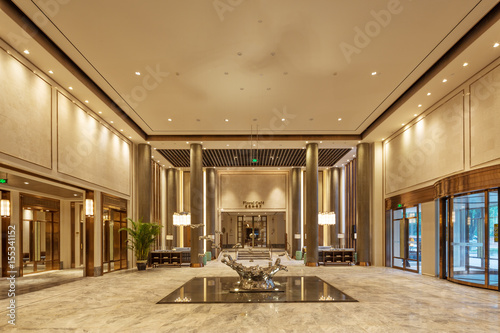 luxury hotel lobby interior