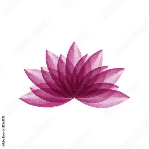 Fototapeta Watercolor lotus flower vector illustration