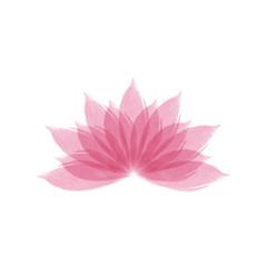 Watercolor lotus flower vector illustration