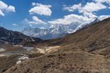 Himalaya mountain range landscape , Everest region, Nepal