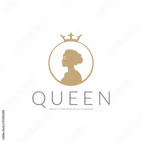 Queen logo. Beauty logotype  - 155403389