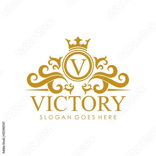 Fototapeta Royal brand logo design vector