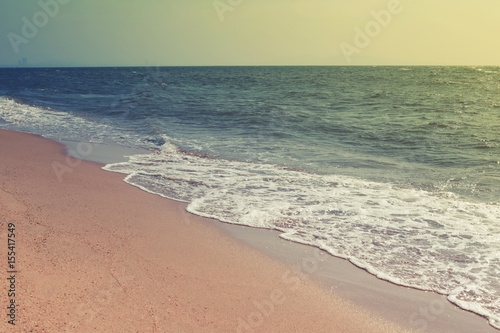Beach or coast of vintage color style in tropics sea. - 155417549