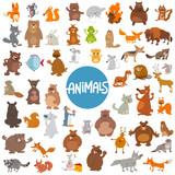 cartoon animal characters huge set - 155433744