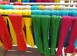 Colorful Yarn Outside Drying - 155441512
