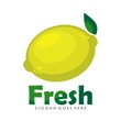 Lemon citrus logo design illustration vector - 155441975