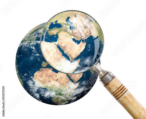 Plexiglas Focus on Middle East