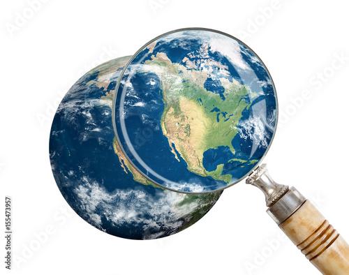 Plexiglas Focus on North America