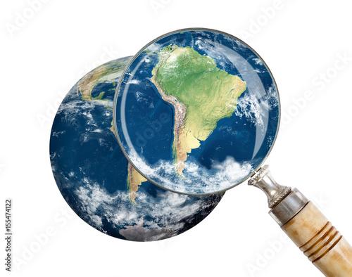 Plexiglas Focus on South America