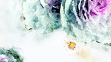 Flower watercolor painting, digital illustration art for using to be background