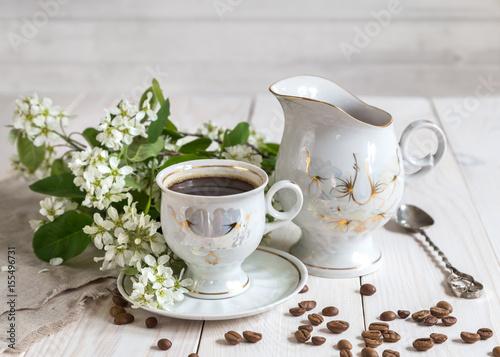 Papiers peints Café en grains Image with a cup of coffee