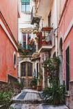 Picturesque cobbled walkway in Taormina