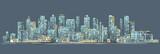 City skyline background. Hand drawn vector - 155527522