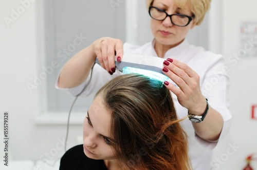 treatment of scalp and hair structure study  Phototherapy, light