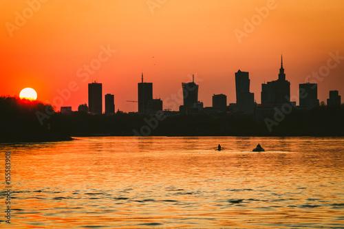 Canoeist on Vistula river