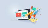 Creative concept banner. Vector illustration for website design and development. - 155603374