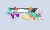 Creative concept banner. Vector illustration for graphic and web design, logo design, vector design, stationary, branding, corporate identity, product design. - 155603509