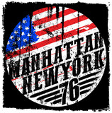 New York City america flag vector print and varsity. For t-shirt or other uses in vector.T shirt graphic - 155633913