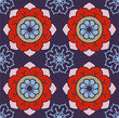 Geometric Flowers Pattern - 155641577