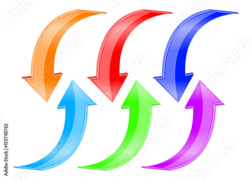 Colored arrows. Web icons