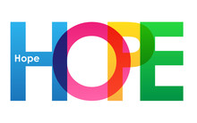 Hope Colourful  Letters Icon Sticker