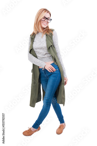 Full body shot of young woman