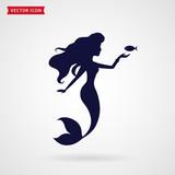 Mermaid  Silhouette Wall Sticker