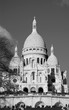 Sacre Coeur Basilica (Paris, France) Black and white.