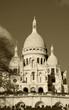 Sacre Coeur Basilica (Paris, France) Sepia.