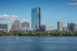 Skyline of Boston with the river