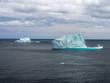Colorful view of Icebergs near St. John's, Newfoundland, Canada, North America