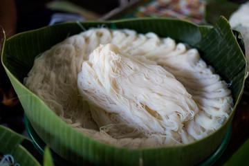 Thai glass noodle on market