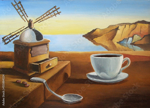 Breakfast on the beach.