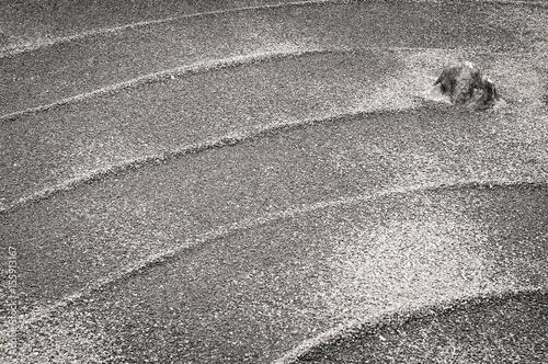 Papiers peints Zen pierres a sable Giardino Zen