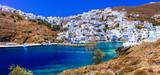 Traditional Greece - beautiful Astypalea island. View of Chora village - 155932581