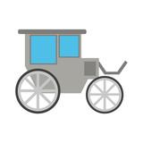 Carriage Wagon Icon Image  Illustration Design  Wall Sticker