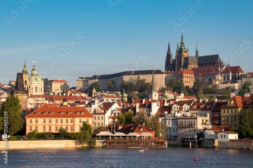 Prague panorama in the morning