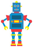 Vector illustration of a toy Robot