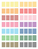 Set of 14 colors Gingham Pattern Vector Backgrounds
