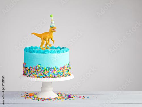 Dinosaur Birthday Cake Poster