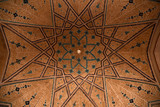 Iran. Kashan. Agha Bozorg mosque.Ceiling fragment.