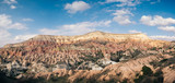 Colorful rose valley with blue sky in Cappadocia