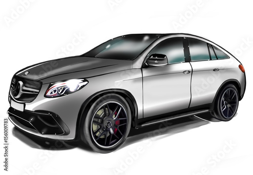 Szkic Mercedes GLE